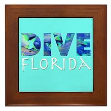 Dive Florida Framed Tile