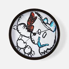 Abstract Kitty Kat Wall Clock