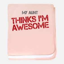 Aunt Awesome baby blanket