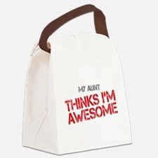 Aunt Awesome Canvas Lunch Bag