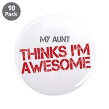 "Aunt Awesome 3.5"" Button (10 pack)"
