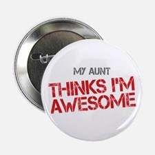 """Aunt Awesome 2.25"""" Button"""