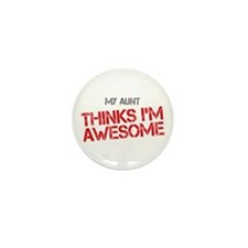 Aunt Awesome Mini Button (10 pack)