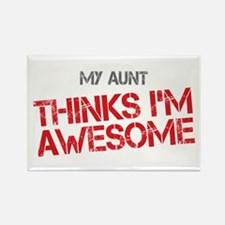 Aunt Awesome Rectangle Magnet