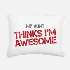 Aunt Awesome Rectangular Canvas Pillow