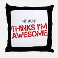 Aunt Awesome Throw Pillow
