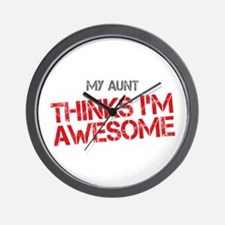 Aunt Awesome Wall Clock