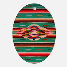 Southwest Weaving Oval Ornament