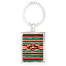 Southwest Weaving Portrait Keychain