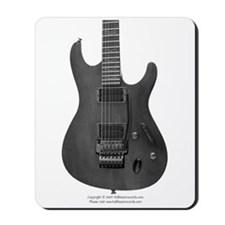"""Blk&Wht"" Guitar Mousepad"
