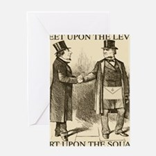 Meeting and Parting of the Masons Greeting Card