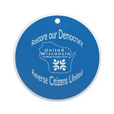Restore our Democracy Round Ornament