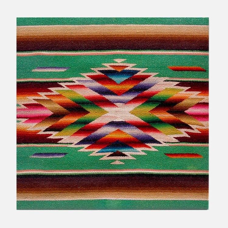 Southwest Weaving Tile Coaster