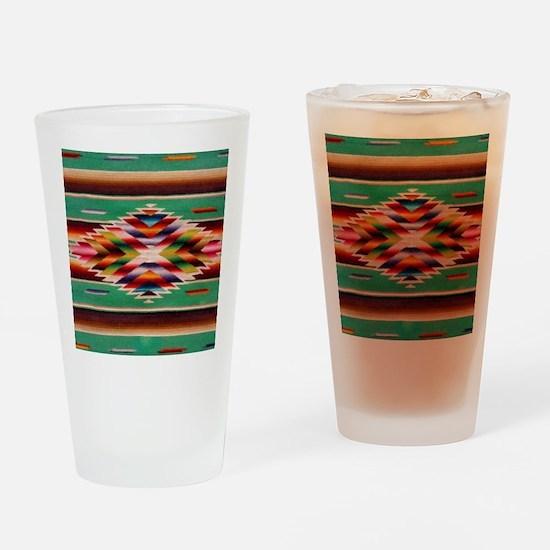 Southwest Weaving Drinking Glass