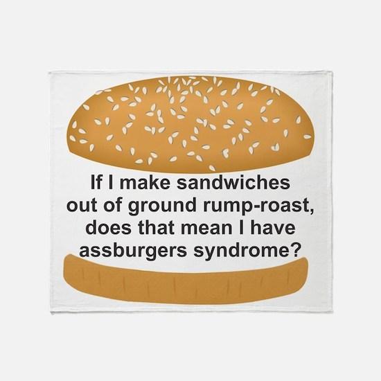 Assburgers Throw Blanket