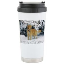 Golden Retriever Merry  Travel Mug