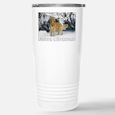 Golden Retriever Merry  Travel Mug