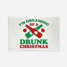 I'm Dreaming Of A Drunk Christmas Rectangle Magnet