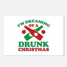 I'm Dreaming Of A Drunk Christmas Postcards (Packa