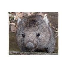Young Wombat Throw Blanket