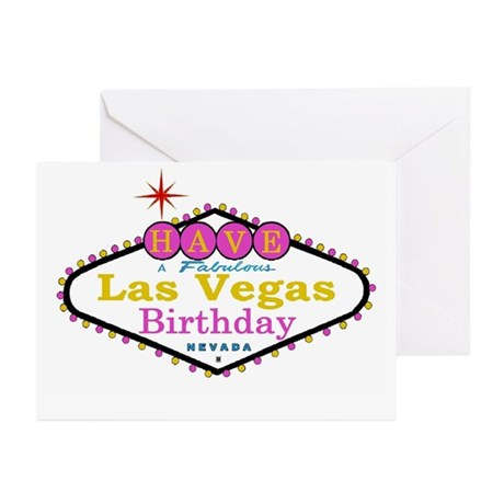 Have A Fabulous Las Vegas Birthday Cards Pk of 10