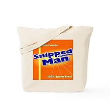 Snipped Man Tote Bag