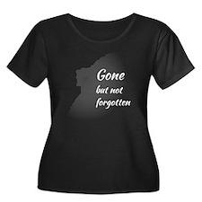 Gone But Women's Plus Size Dark Scoop Neck T-Shirt
