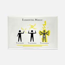 Elemental Magic - Thundaga Rectangle Magnet
