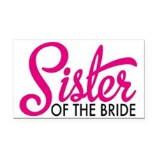 Sister of the bride Rectangle Car Magnet