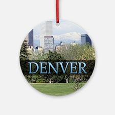 Denver Colorado Round Ornament