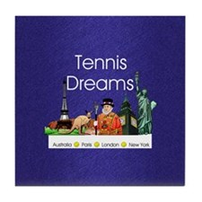 tennisdreamsaplnsq Tile Coaster