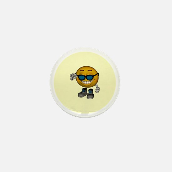 Hot Emoticon Mini Button