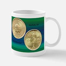 Norfolk VA Bicentennial Half Dollar Coi Mug