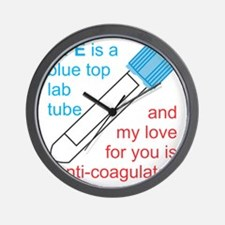 Blue Top Lab Tube Wall Clock