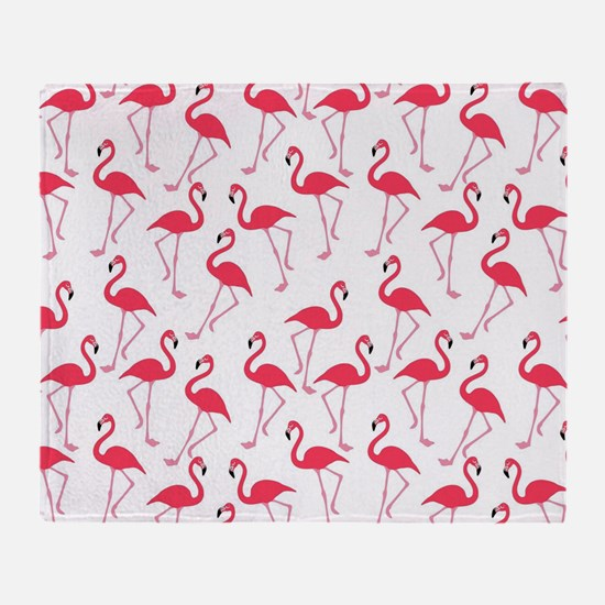 Funny Flamingo Throw Blanket