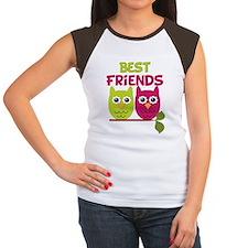 Best Friends Owls Women's Cap Sleeve T-Shirt
