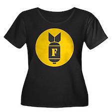 F Bomb Women's Plus Size Dark Scoop Neck T-Shirt