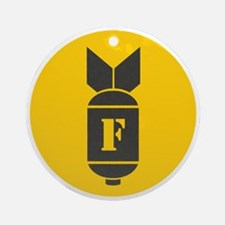 F Bomb Round Ornament