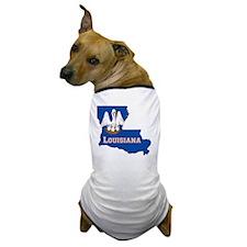 Louisiana State Flag Map Dog T-Shirt