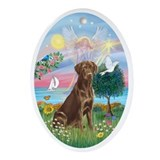 Labrador retriever Oval Ornaments