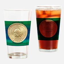 Norfolk VA Bicentennial Half Dollar Drinking Glass