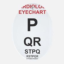 Cardiology Eyechart Oval Ornament