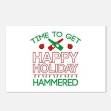 Time To Get Happy Holiday Hammered Postcards (Pack