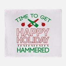 Time To Get Happy Holiday Hammered Stadium Blanket
