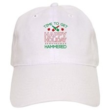 Time To Get Happy Holiday Hammered Baseball Cap