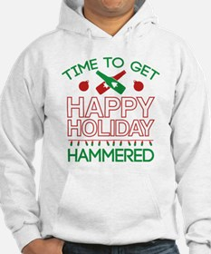 Time To Get Happy Holiday Hammered Hoodie