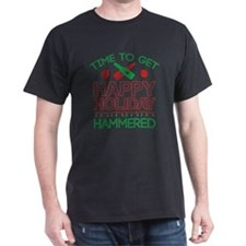 Time To Get Happy Holiday Hammered T-Shirt