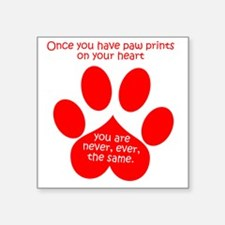 "Paw Prints Square Sticker 3"" x 3"""