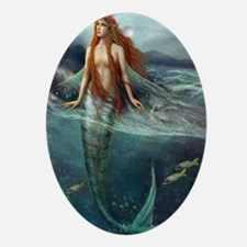 Mermaid of Coral Sea Oval Ornament