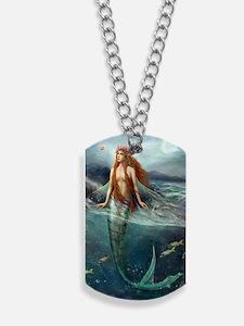 Mermaid of Coral Sea Dog Tags